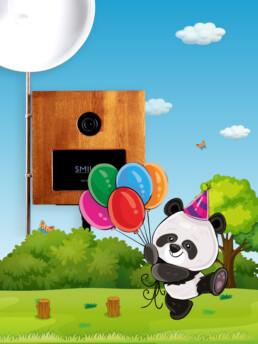 cabina foto tematica urs panda